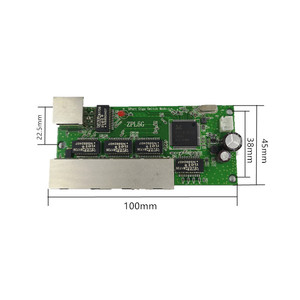 Image 2 - 5 port Gigabit switch module is widely used in LED line 5 port 10/100/1000 m contact port mini switch module PCBA Motherboard
