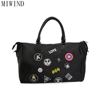 MIWIND NylonWaterproof Luggage Bag Large Capacity Travel Bag Women Weekend Travel Duffle Tote Bags TAS804