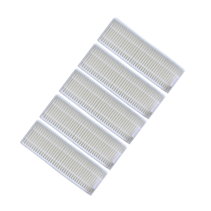 5 pieces/lot Robot Vacuum Cleaner HEPA filter Conga Filters for Conga Slim 890 Robotic Vacuum Cleaner Parts Accessories 2pcs robotic vacuum cleaner robotic parts pack hepa filter for xiaomi mi robot filters cleaner accessories