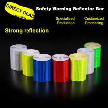 CARLAS 5cm*3m Car Safety Mark Reflective Strip Stickers Warning Light Reflector Protective Sticker Tape Film