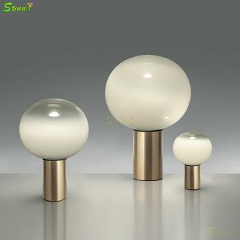Postmodern Creative Glass Table Lamps Art Bedside Bedroom Lamp Designer  Model Room Table Lamp Home Deco Living Room Table Lights