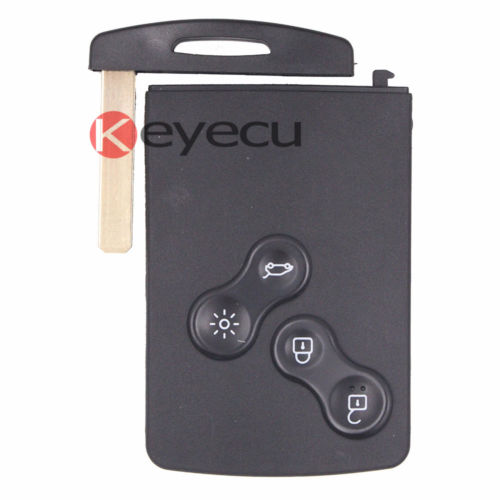 New Uncut Remote Key Fob 4 Button 433Mhz PCF7941for Renault Megane 2009-2014 free shipping 1piece 2 button remote key mit11 uncut blade with 46 chip 433mhz for mitsubishi