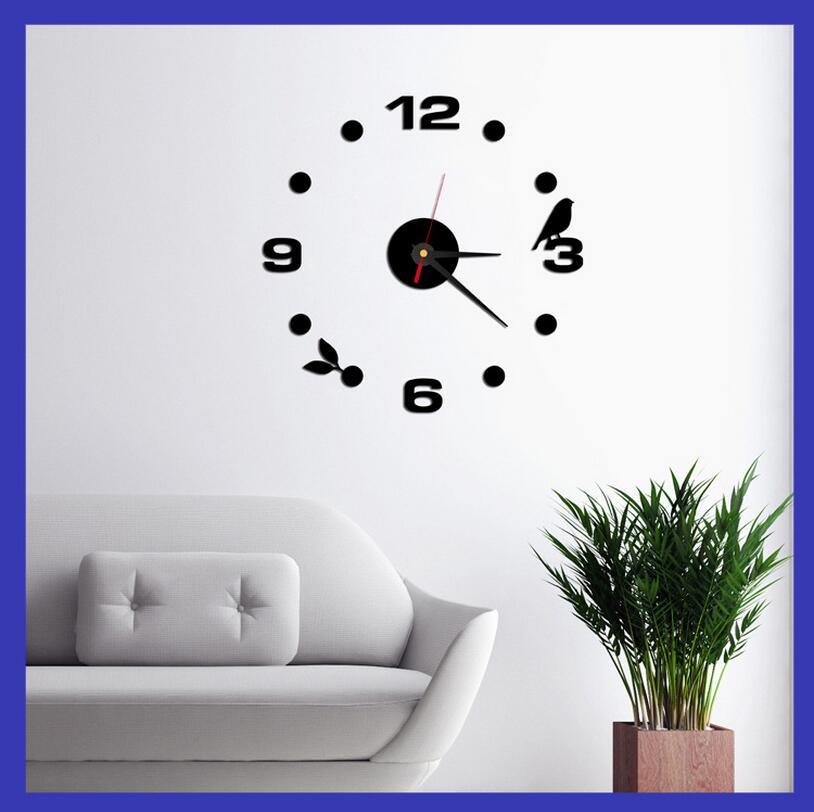 ᗐ2016 moda 3D Reloj de pared sin marco estilo relojes horas DIY ...