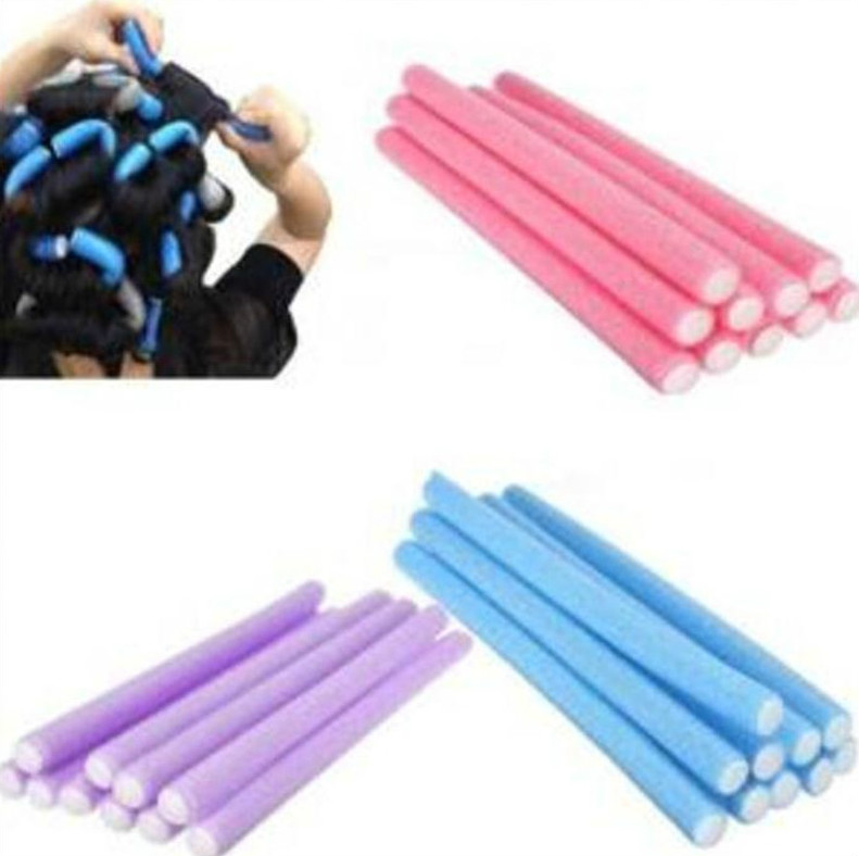 Hair Curling Flexi Rods Magic Air Hair Roller Curler Hair Roller Sticker Random Colors