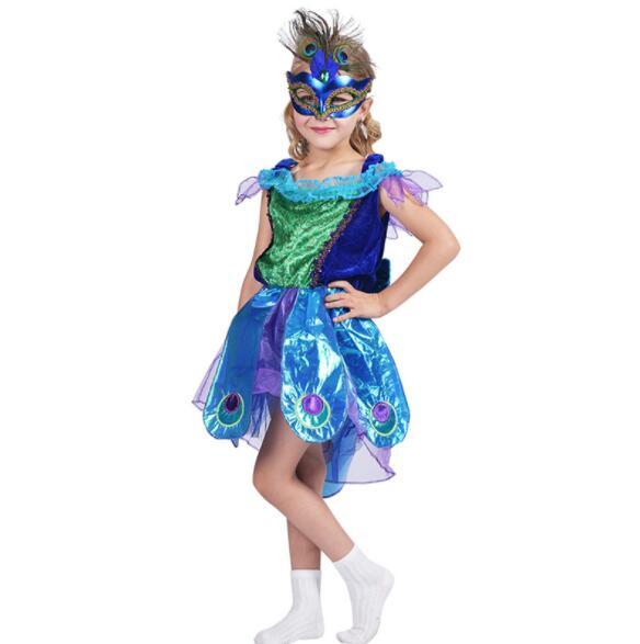 Princesse filles paon Tutu robe Halloween Costume enfants fête d'anniversaire Costume
