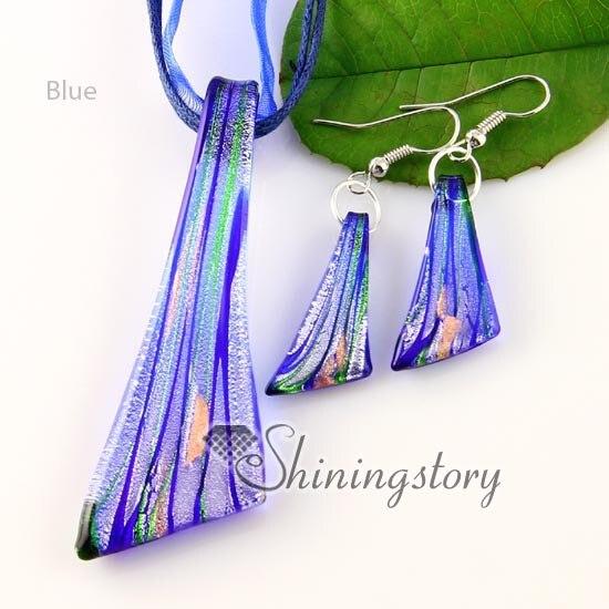 Silver Red Sea Horse Lampwork Verre Murano Perle Collier Pendentif Boucles d/'oreilles Set