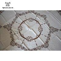 Vgolsun High Quality Elegant Europe Pastoral Style 180CM Round 100 Cotton Handmade Battenburg Lace Table Cloth