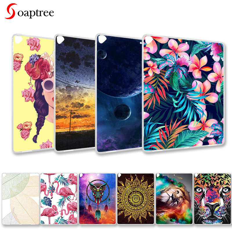 Tablet Painted Cover For IPad Pro 12.9 2017 Case 2nd Generation 12.9'' A1670 A1671 A1821 Soft Silicone Cartoon Animals Covers