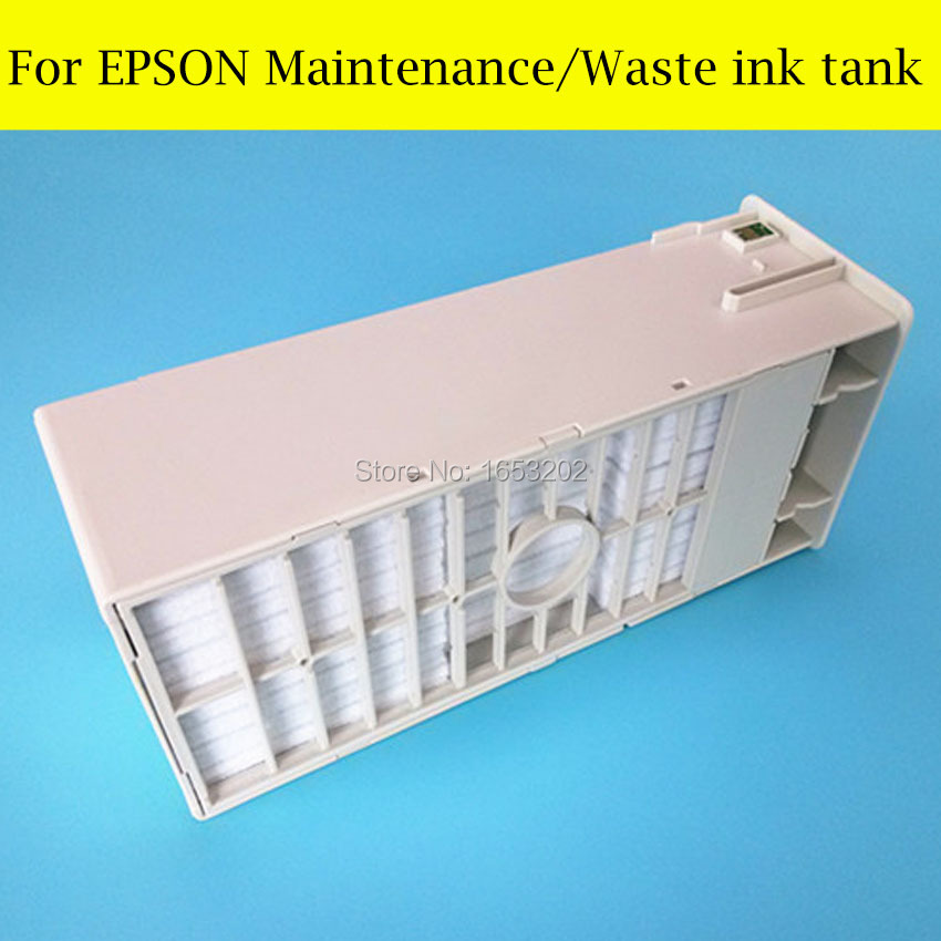 1 Piece Waste Ink Tank For Epson Stylus Pro 7700 9700 7910 9910 7710 Printer Maintenance Ink Tank 2pcs maintenance tank chip for epson stylus pro7710 7700 9710 9700 series printers waste ink tank compatible chip resettable