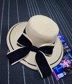 Новый 2017 Лето женская Складная Широкий Большой Брим Элегантный Beach Sun Hat Соломы Пляж Cap Для Дам Девочек