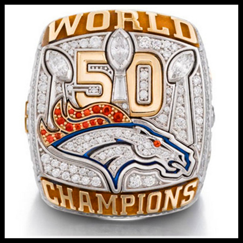 48ed4fc2 Sales Promotion New Arrival 2015 2016 Denver Broncos Super Bowl 50  Championship Ring Replica Rings For Man Fans-in Rings from Jewelry &  Accessories on ...