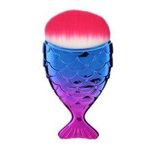 Cosmetic Mermaid Brush Professional Powder Mermaid Makeup Brushes Set Maquiagem Foundation Contour Fish Brush Make Up Tool Kits