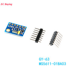 MS5611-01BA03 GY-63 MS5611 Atmospheric Pressure Sensor Module Electronic DIY Board IIC SPI 24Bit AD PCB for Arduino