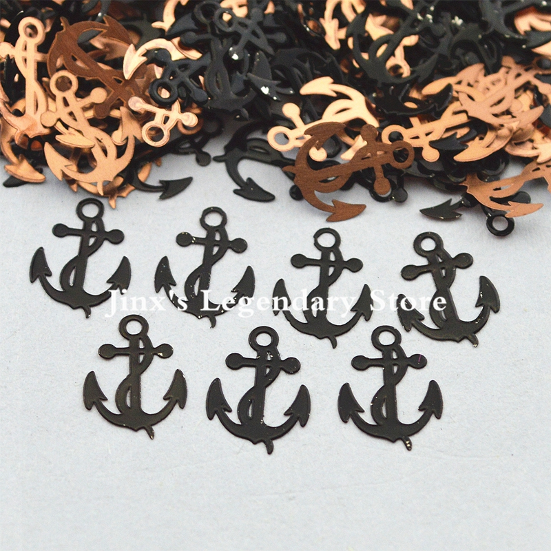 2018 black anchors design decorations metal nail foil decals sticker for 3d Nail Art Decor Slice Stickers Decal  beauty tools 24pcs lot 3d nail stickers decal beauty summer styles design nail art charms manicure bronzing vintage decals decorations tools
