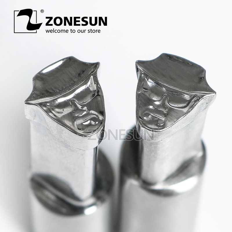 ZONESUN Man with hat Tablet Press 3D Punch Mold Candy Milk Punching Die Custom Logo punch die TDP 5 Machine Free Shipping zonesun star shape sugar tablet press punch mold candy milk punching die custom logo for punch die tdp 5 machine free shipping