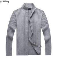 Top quality 100% Cotton 2018 Mens knitted long sleeve sweaters casual mens zipper knitting outerwear fashion men's knit tops