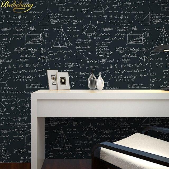Beibehang Blackboard Geometry Math Formula Equation Personality Wallpaper Children Room Cafe Restaurant Papel De Parede