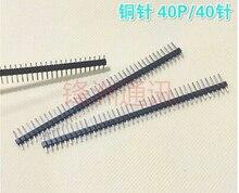 100 шт. 40 Pin 1×40 Однорядные Мужской 2.54 Хрупкие Контактный Разъем Газа для Arduino Черный