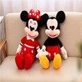 55 cm de Alta Calidad lindo juguetes de felpa de Mickey o Minnie muñeca un par de amantes de los regalos de cumpleaños 1 unids/lote