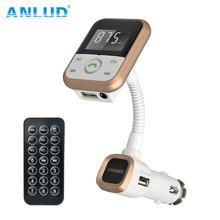 Bluetooth Kit de Coche Reproductor de MP3 Transmisor FM Inalámbrico de Manos Libres de Radio Adaptador de Cargador USB + Control Remoto De TV Con la Caja Al Por Menor
