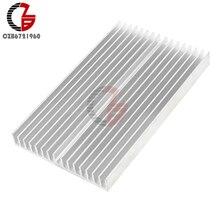 100x60x10mm Silber Ton Aluminium Kuehler Kuehlkoerper Heatsink Heat Sink Cooling Radiator Heating Dissipation for LED COB Light