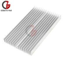 Dissipador de calor 100x60x10mm, dissipador de calor de dissipação de aquecimento de radiador de refrigeração para led luz cob