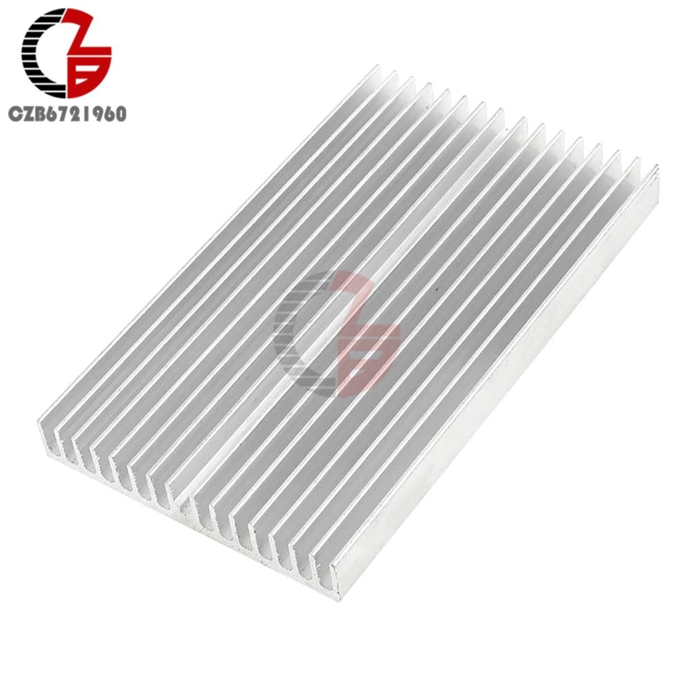 Dissipação de aquecimento de refrigeração do radiador do dissipador de calor do kuehlkoerper do alumínio da tonelada de silber de 100x60x10mm para a luz conduzida da espiga