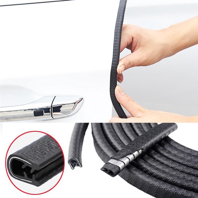 Auto Tür Rand Scratch Protector Streifen Gummi 5 M/10 M Schutz Trim Automobil Tür Aufkleber Abdichtung Streifen Aufkleber auto-styling