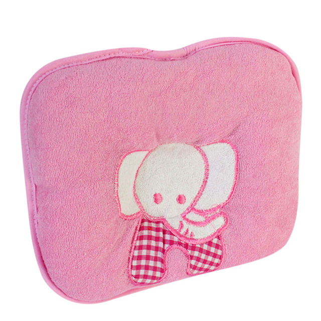 Cute Elephant Printing Baby Infant Soft Cotton Memory Pillow Prevent Skew Head For Baby Bedding