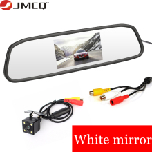 JMCQ 4.3 wireless Mirror display Car Monitor TFT Car Rear View monitor Parking Rearview System + Night Vision Reverse Camera liislee for seat ibiza st 6j 2009 2017 3 in1 special rear view wifi camera wireless receiver mirror monitor diy parking system