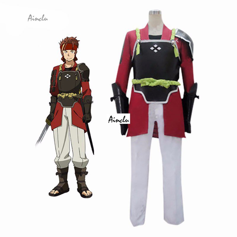 Ainclu Customize Free Shipping Cosplay Anime costume Red Sword Art Online Salamander Klein Cosplay Costume For Adult costume