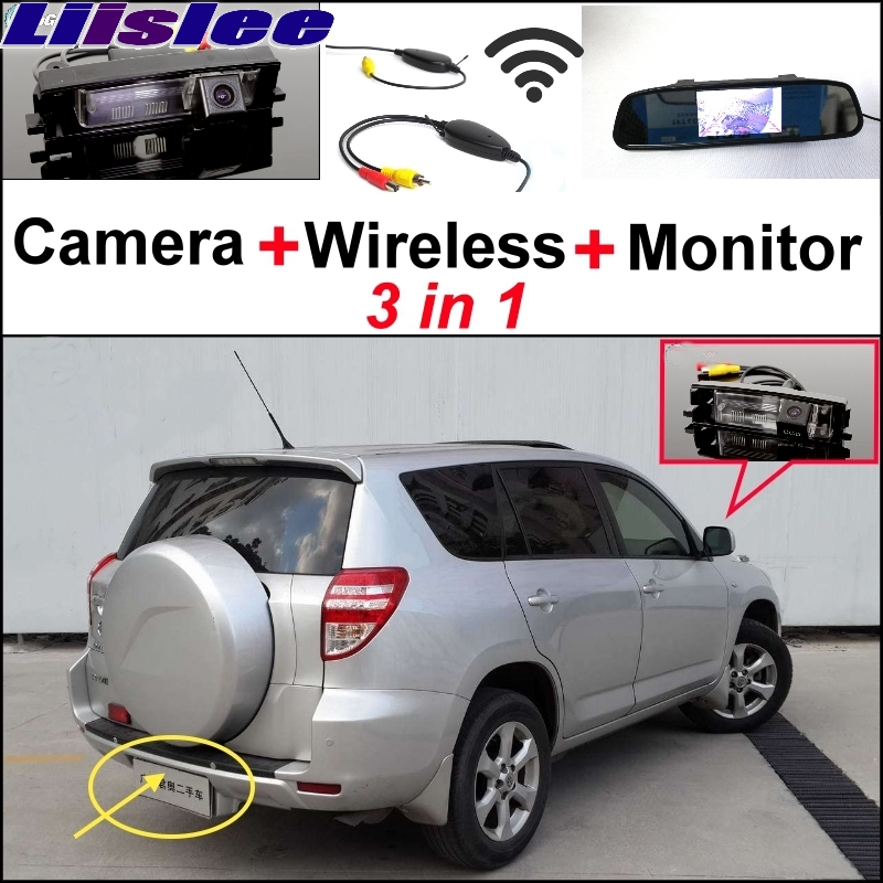 Lisslee For TOYOTA RAV4 RAV-4 RAV 4 Special Rear View Camera + Wireless Receiver + Mirror Monitor 3 in1 Easy DIY Parking System 3 in1 special rear view camera wireless receiver mirror monitor easy diy backup parking system for jeep liberty 2002 2007