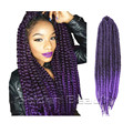 22inch  Havana Mambo Twist crochet  Braid hair synthetic Dreadlocks braids Jumbo Braiding Hair crochet  hair extension