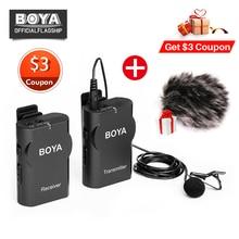 Boya BY-WM4 Профессиональный Беспроводной микрофон Системы петличный нагрудные Микрофон для Canon Nikon sony DSLR видеокамеры Регистраторы для iPhone X