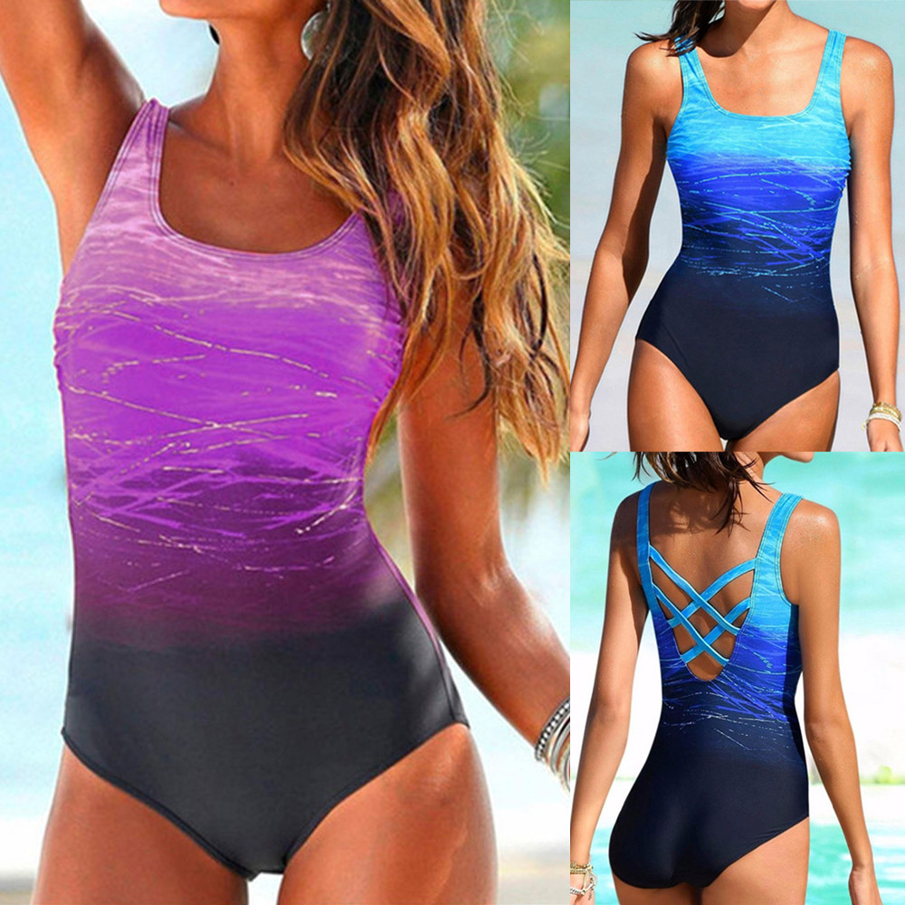 Bikini 2018 Womens Swimming Costume Padded Swimsuit Monokini Push Up one piece swimsuit high waisted sexy bikini set 20 textured padded bikini