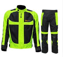 Riding tribe Men's Motorcycle motocross breathable Protector mesh Moto Body Armour Protection jacket Racing jacket Jersey pants
