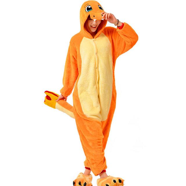 Unisex Dragão de Fogo Conjuntos Pijamas Roupas Para Mulheres Dos Homens Unisex Flanela Com Capuz Pijamas Cosplay Animais Criança