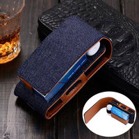 Denim Leather Phone Bag Belt Clip Pouch Waist Purse Case Cover For Mobile Phone For IQOS