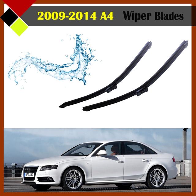 Automóvel janela windscreen windshield bracketless sem moldura de borracha macia wiper blade 1 par apto para 2009-2014 audi a4
