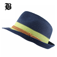 [Flb] 2017熱い販売トレンディユニセックス帽子フェルト帽ギャングキャップ用女性サマービーチ太陽わらパナマ帽子男