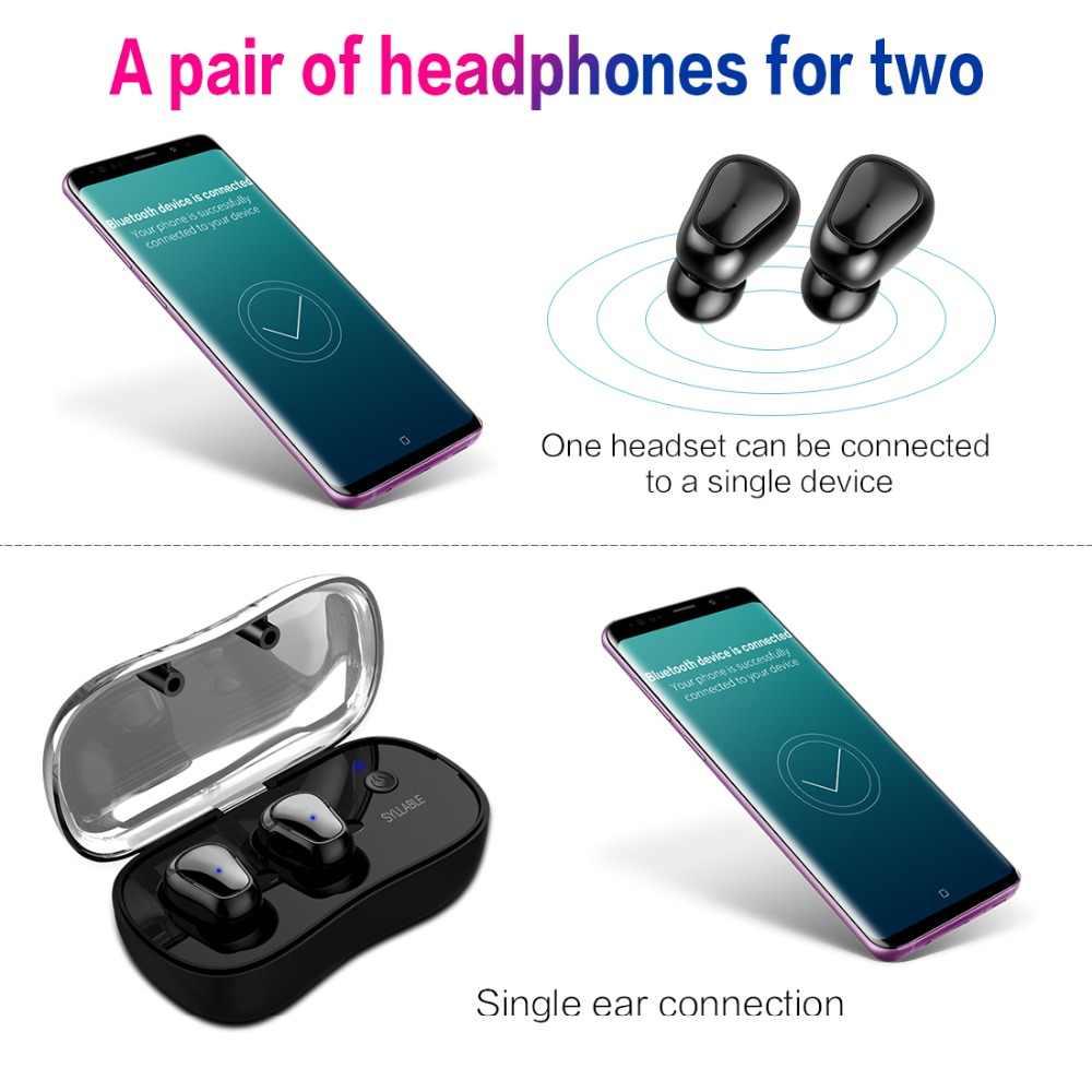 2019 Новый слог D900P Bluetooth V5.0 TWS наушники настоящие беспроводные стерео наушники водонепроницаемый слог Bluetooth гарнитура для телефона