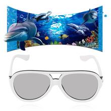 Universal 3D Glasses Passive Cinema Theatre Eyewear Plastic Frame Glasses Comfortable Virtual Reality Googles
