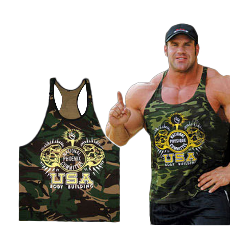 2017 New clothing Singlets Camouflage   Tank     Tops   Shirt Bodybuilding Equipment Fitness Men's Golds Vest Stringer WAIBO BEAR M-XXL