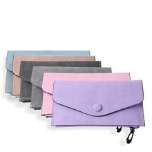 Slim Wallet Fashion Ultra Thin Women Wallet Nubuck Leather Solid Long Female Purse Large Multiple Capacity