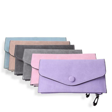 Slim Wallet Fashion Ultra Thin Women Wallet Nubuck Leather Solid Long Female Purse Large Multiple Capacity Ladies Card Holders