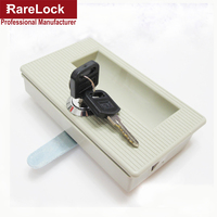 Rarelock File Cabinet Handle Lock Clasping With Keys For BOX Door School Locker Office Product DIY