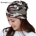 LongKeeper Ladies' Fall Winter Hats Camo Cap for Women Hat Mask Scraft 3 Ways Used beanie bonnet femme gorros toucas feminina