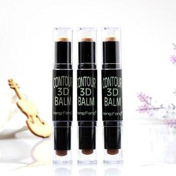 Doppel-ended 2 in1 Concealer Gesicht Foundation Make-Up Natürliche Creme Concealer Stift Highlight Kontur Stift Stick