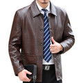 Men's genuine leather jacket 2017 Men Leather Jacket Black New Slim fit Biker genuine lambskin jacket