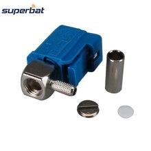 Superbat 10 шт. RF Fakra Z синий/5021 нейтральный разъем кодирования обжимной разъем женский прямой угол для кабеля RG316 RG174 LMR100